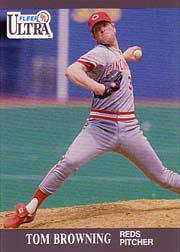 1991 Ultra #89 Tom Browning UER/(Front photo actually/Norm Char