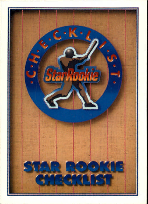 1991 Upper Deck #1 Star Rookie Checklist