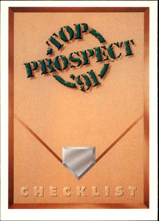 1991 Upper Deck #50 Top Prospect Checklist