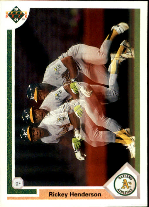 1991 Upper Deck #444 Rickey Henderson