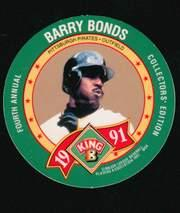 1991 King-B Discs #21 Barry Bonds