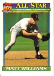 1991 O-Pee-Chee #399 Matt Williams AS