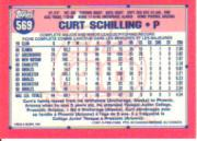 1991 O-Pee-Chee #569 Curt Schilling/Now with Astros/1/10/91 back image