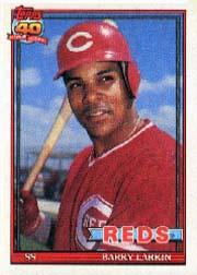 1991 O-Pee-Chee #730 Barry Larkin