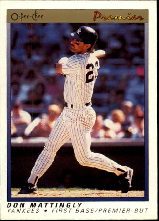1991 O-Pee-Chee Premier #77 Don Mattingly