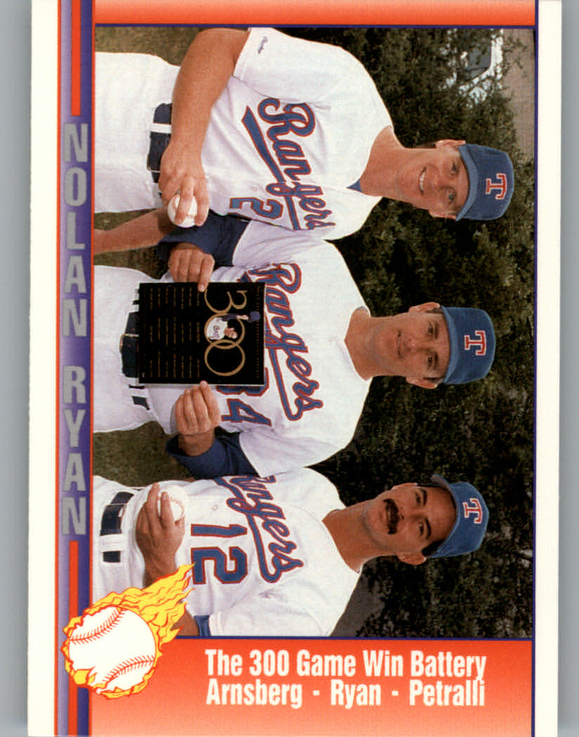 1991 Pacific Ryan Texas Express I #68 Nolan Ryan/Brad Arnsberg/Geno Petralli/300 Game