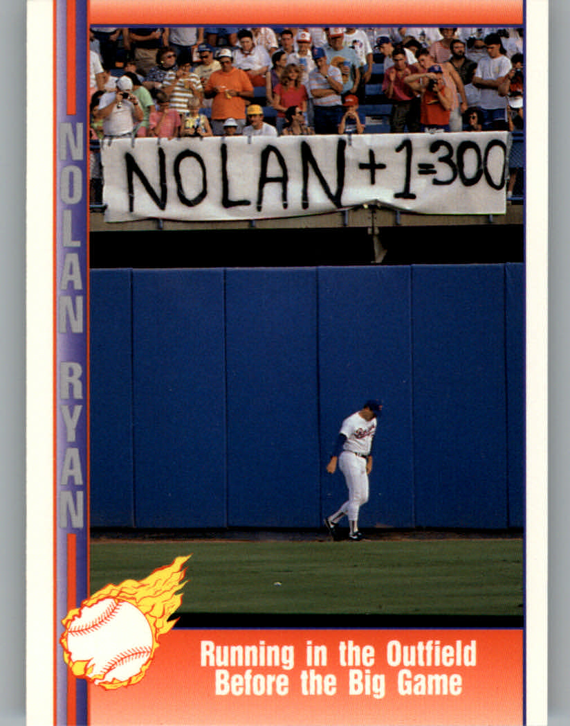 1991 Pacific Ryan Texas Express I #83 Nolan Ryan/Running in Outfield/Before the Big Ga