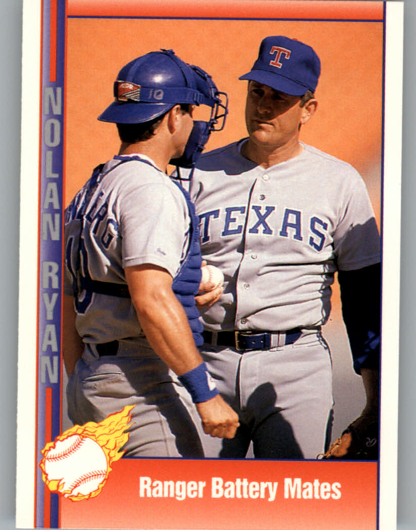 1991 Pacific Ryan Texas Express I #93 Nolan Ryan/Jim Sundberg/Ranger Battery Mates
