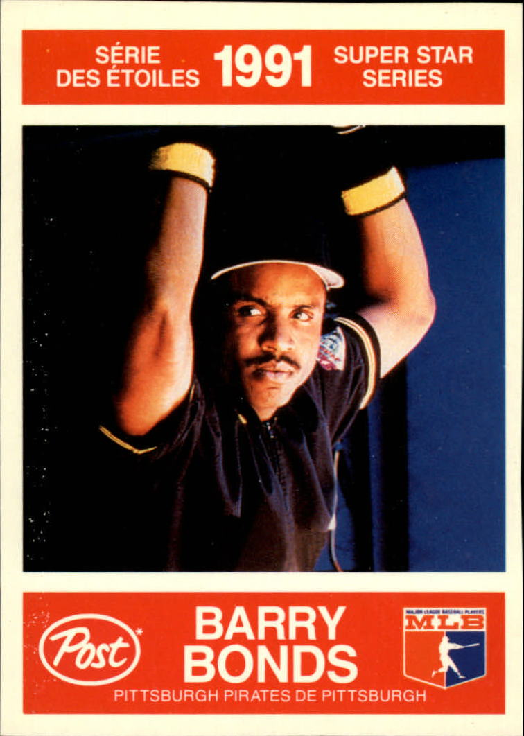1991 Post Canadian #5 Barry Bonds UER/(Career BA .256,/should be .265)