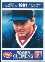 1991 Post Canadian #18 Roger Clemens