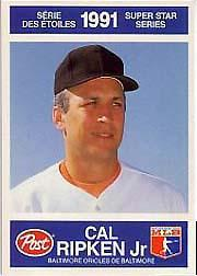 1991 Post Canadian #22 Cal Ripken