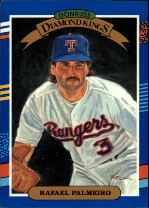 1991 Donruss #19 Rafael Palmeiro DK/UER (No trademark on/team logo on back)