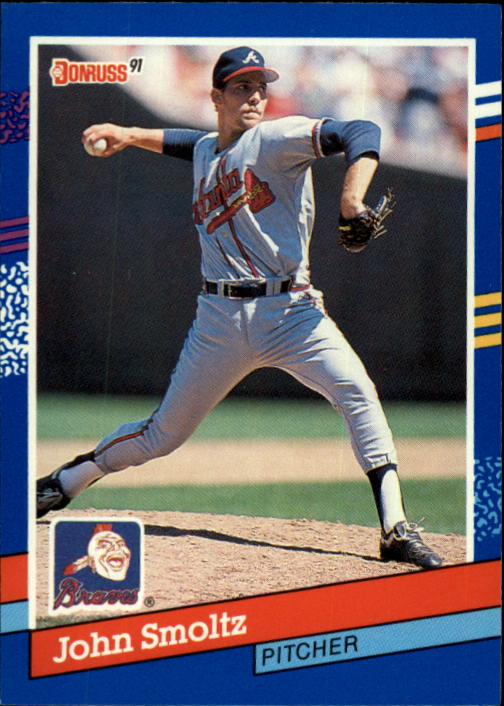 1991 Donruss #75 John Smoltz UER/(Born in Detroit,/not Warren)