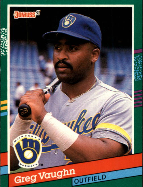 1991 Donruss #478 Greg Vaughn