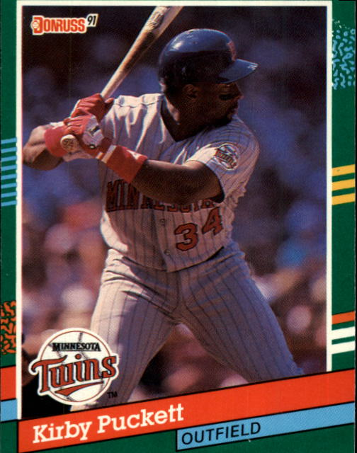 1991 Donruss #490 Kirby Puckett
