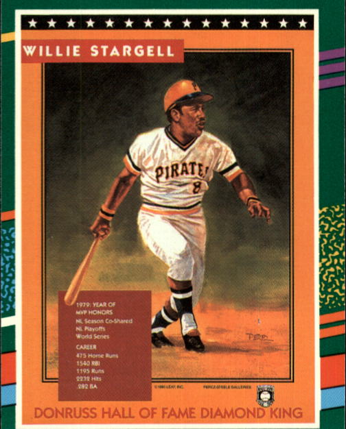 1991 Donruss #702 Willie Stargell PUZ