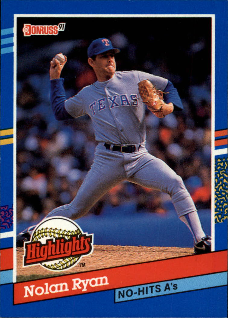 1991 Donruss Bonus Cards #BC3 Nolan Ryan NH