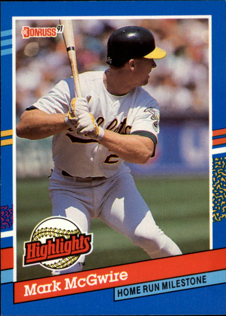 1991 Donruss Bonus Cards #BC9 Mark McGwire UER/Home Run Milestone/(Back says First