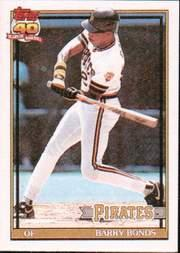 1991 Topps Cracker Jack I #19 Barry Bonds