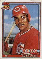1991 Topps Cracker Jack II #11 Barry Larkin