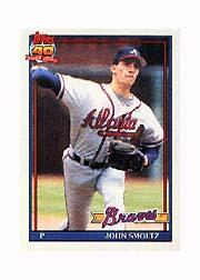 1991 Topps Micro #157 John Smoltz