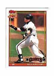 1991 Topps Micro #190 Matt Williams