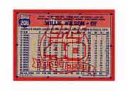 1991 Topps Micro #208 Willie Wilson back image