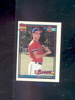 1991 Topps Micro #333 Chipper Jones RC