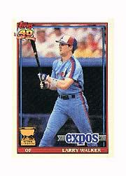 1991 Topps Micro #339 Larry Walker
