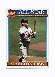 1991 Topps Micro #393 Carlton Fisk AS