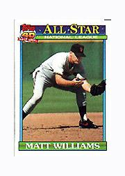 1991 Topps Micro #399 Matt Williams AS