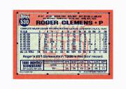1991 Topps Micro #530 Roger Clemens back image