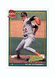 1991 Topps Micro #728 Scott Sanderson