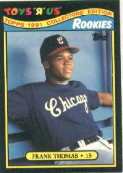 1991 Toys'R'Us Rookies #27 Frank Thomas