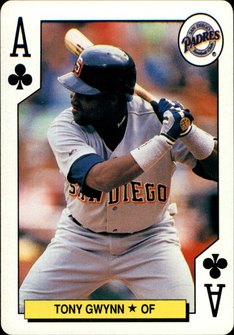 1991 U.S. Playing Cards All-Stars #1C Tony Gwynn