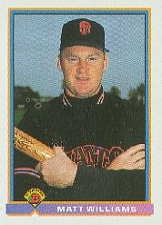 1991 Bowman #618 Matt Williams
