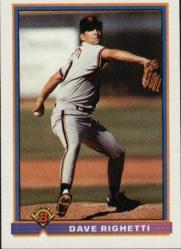 1991 Bowman #632 Dave Righetti