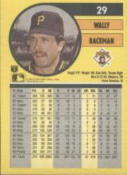 1991 Fleer #29 Wally Backman
