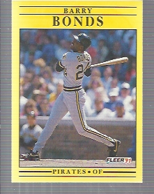 1991 Fleer #33 Barry Bonds