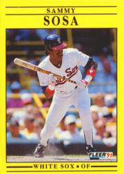 1991 Fleer #136 Sammy Sosa
