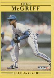 1991 Fleer #180 Fred McGriff