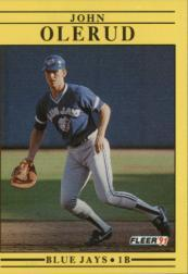 1991 Fleer #183 John Olerud