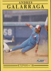 1991 Fleer #232 Andres Galarraga