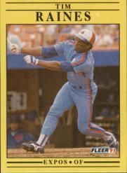 1991 Fleer #244 Tim Raines