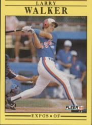 1991 Fleer #250 Larry Walker