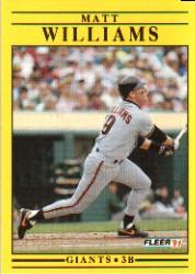 1991 Fleer #276 Matt Williams