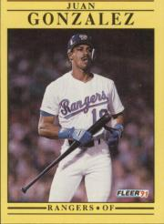 1991 Fleer #286 Juan Gonzalez