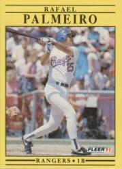 1991 Fleer #295 Rafael Palmeiro