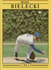 1991 Fleer #415 Mike Bielecki