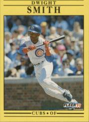 1991 Fleer #432 Dwight Smith